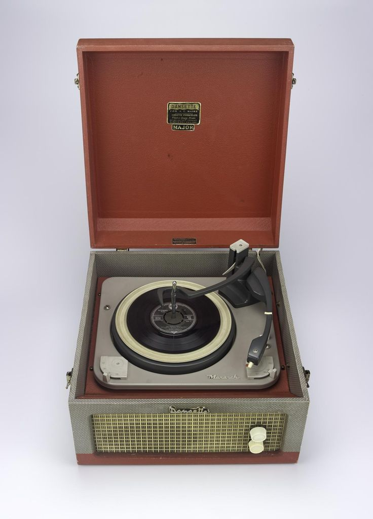 Portable record player, Dansette Major.