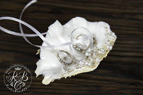 Seashell Wedding Ring Holder Wedding Ring Box Pearl Ring Wedding