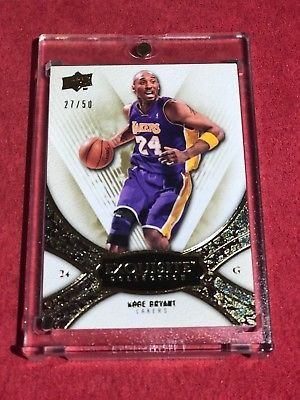 KOBE BRYANT 2009-10 EXQUISITE COLLECTION #4 BASE GOLD PARALLEL 27/50
