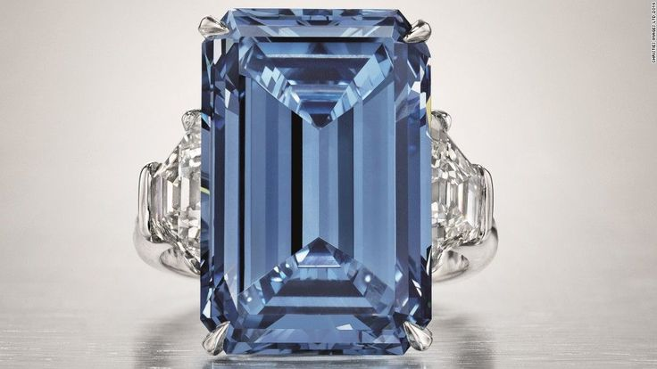 The Oppenheimer Blue, the world's largest blue diamond, sold for $57.5 million at a Christie's auction in May, becoming the most expensive diamond ever sold at auction.