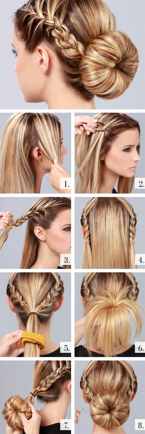 Estos peinados #PasoaPaso te ayudarán a salir de apuros y lucir perfecta en cualquier ocasión. #Peinados #PeinadosRecogidos #Cabello #Belleza #Tutorial