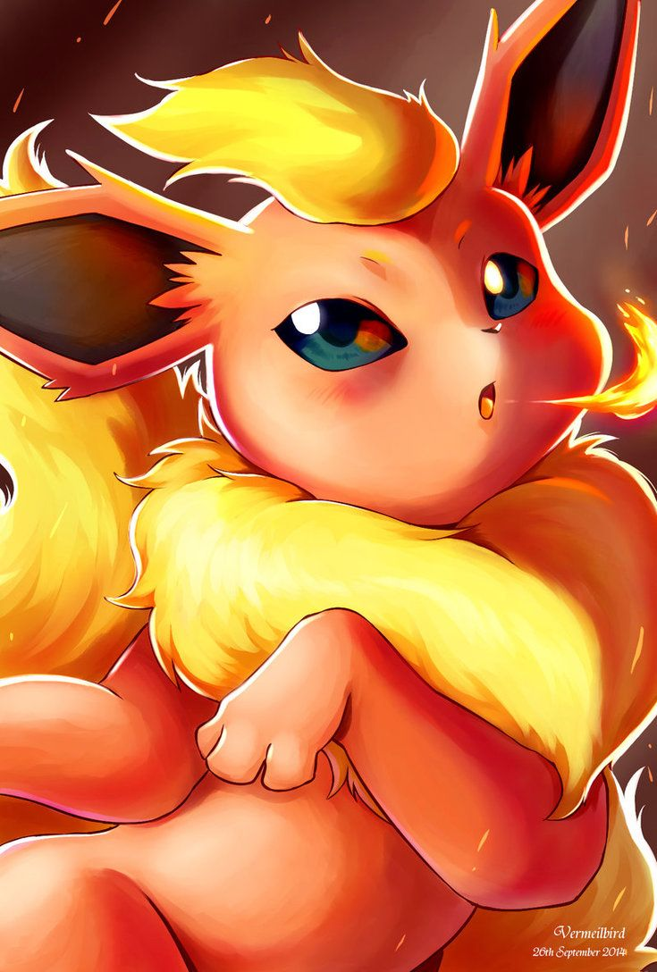 Flareon by Vermeilbird on DeviantArt