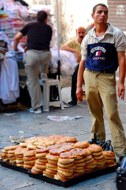 Street Bread Seller, Damascus, Syria