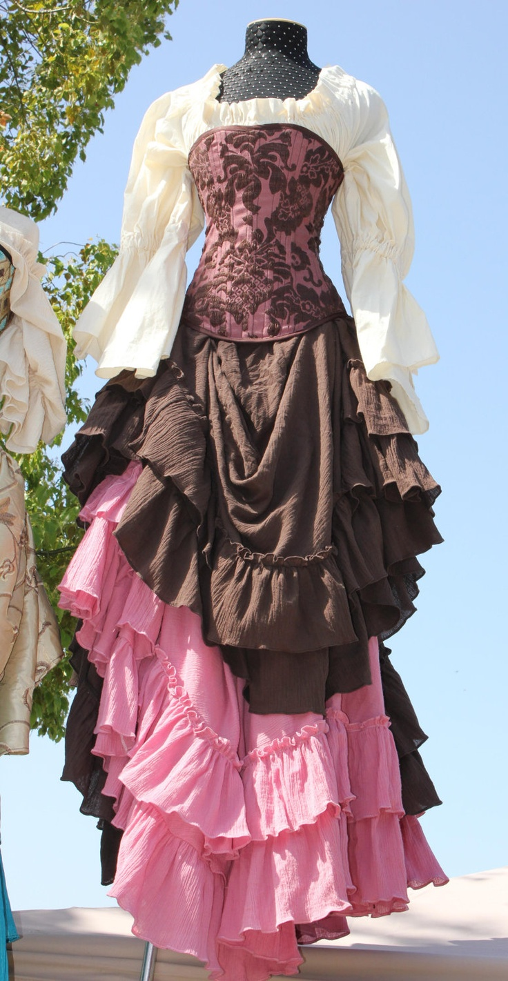 Rose Saloon Girl Skirt. $95.00, via Etsy.