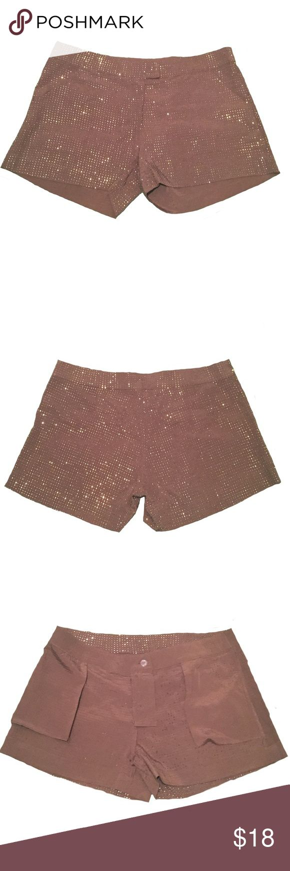 "NWOT Chocolate Brown Embellished Shorts Size M ✨Size Medium ✨16"" Hip to Hip Across Waistband ✨3"" Inseam ✨Unlined ✨Stud Embellishments ✨Hidden Hook, Button & Zip Closure ✨Slant Front Pockets  ✨Hidden Faux Back Pockets  💥Last two photos are close ups of embellishments. Shorts color are accurately depicted in first 4 photos💥 Shorts"