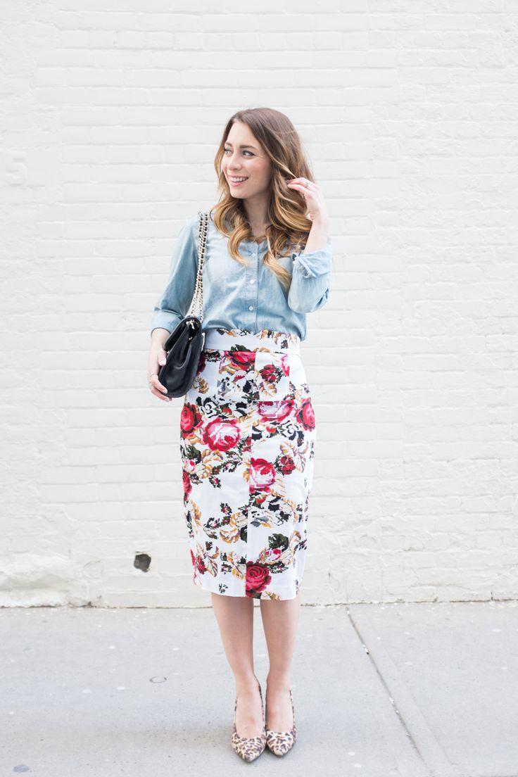 OOTD - Rachel Sin Floral Pencil Skirt | La Petite Noob