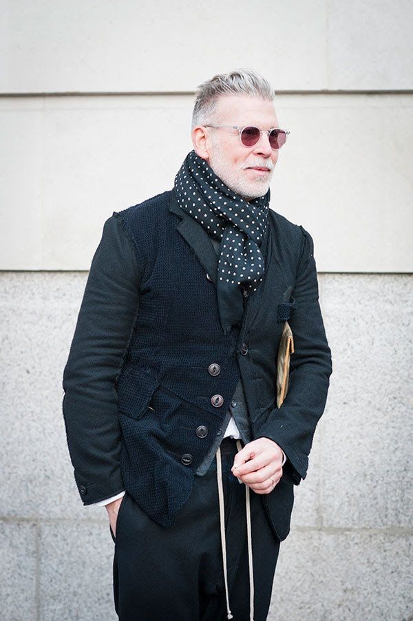 Nick Wooster, Urban Street Style, Men's Fall Winter Fashion.