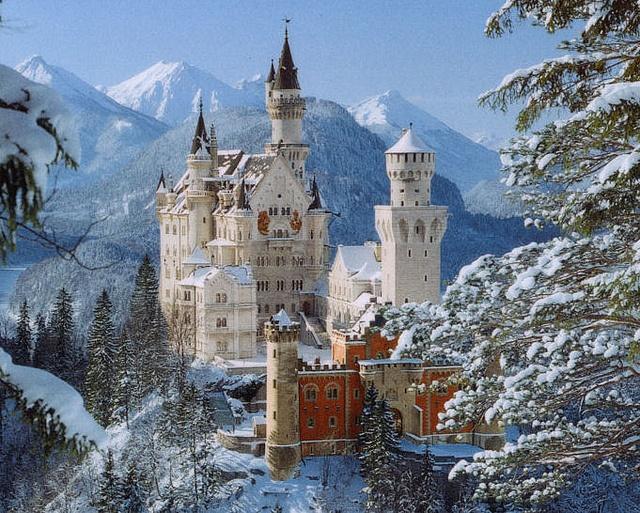 Neuschwanstein Castle,  Bavarian Alps, Germany