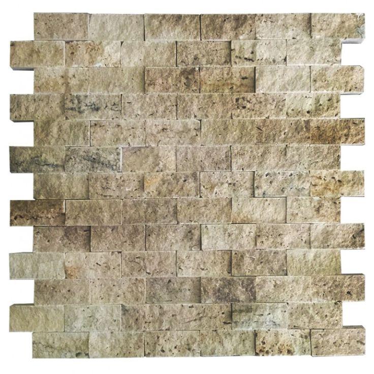 Rustik Traverten 2.5X5 Fileli Patlatma Taş   www.tasdekorcum.com #dekor #patlatmatas #mozaik #dogaltas#naturalstonemosaic #naturalstone  Natural Stone Mosaic Natural Stone Wall Natural Stone Mosaic Subway Wall Tile Fileli Patlatma Taş Doğal Taş Patlatma Mozaik