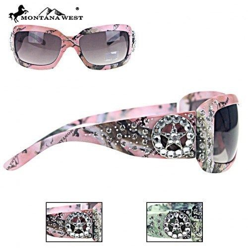 MONTANA WEST CAMO SUNGLASSES FLORAL STAR RHINESTONES WESTERN COWGIRL LADIES #MONTANAWEST #Square