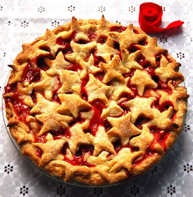 Strawberry Pie. Red. Delicious. - Holy Cow! Vegan Recipes  Strawberry Pie for Pi Day March 14th. Maybe do number shapes on top of the pie.