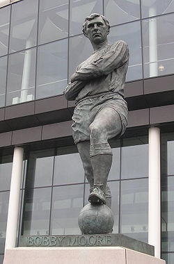 Bobby Moore statue by Philip Jackson, Wembley Stadium