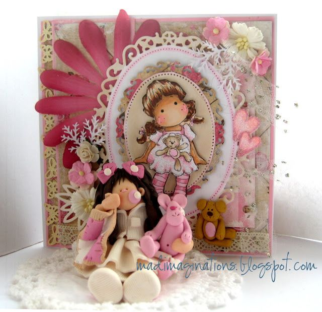Card and fimo  http://madimaginations.blogspot.co.uk/2012/10/well-i-promised-matching-card-for-fimo.html