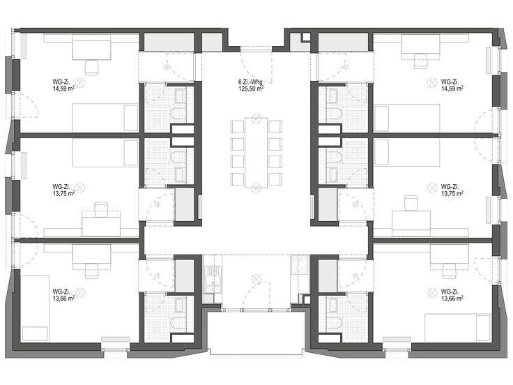 6-ZIMMER WOHNGEMEINSCHAFT, © © Geier·Maass Architekten