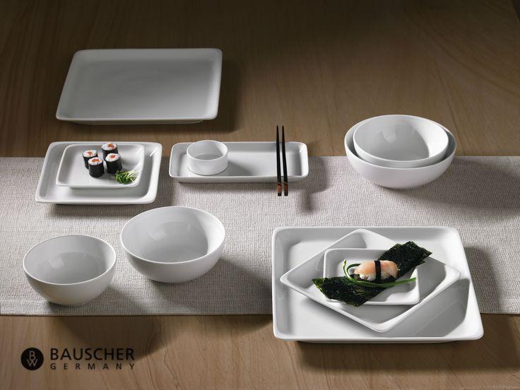 Esta es la tendencia de loza para restaurante:  una presentación minimalista de diversos platos  estéticamente atractivos. Modulus de Bauscher.
