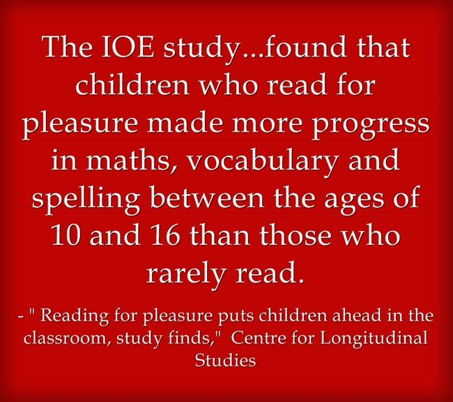 Another Study Shows The Benefits Of Reading For Pleasure