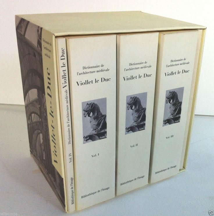 Coffret Dictionnaire de l architecture médiévale Viollet-le-Duc (1997, Box Set)