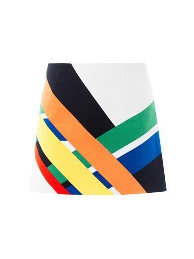 Graphic colour-block A-line skirt | Tibi | MATCHESFASHION.COM