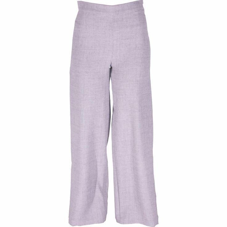 Pantalón pata de elefante gris