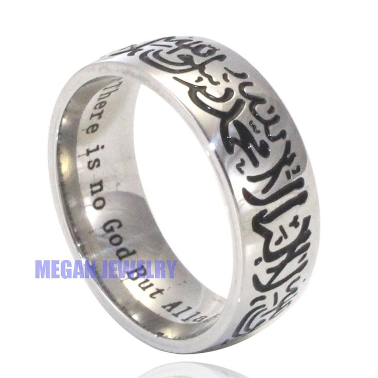 cz girls fashion black steel stainless half for wedding romantic arabic jewelry rings bands gold diamond puzzle heart