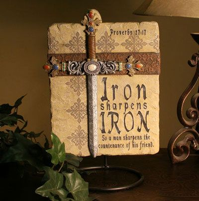 Iron Sharpens Iron Wall Plaque