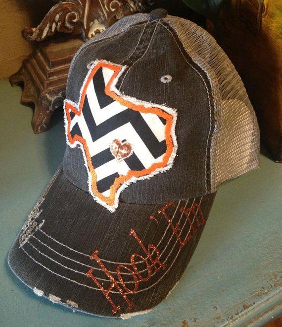 University of Texas Longhorns State Baseball Bling Ladies Womens Trucker Hat via Etsy