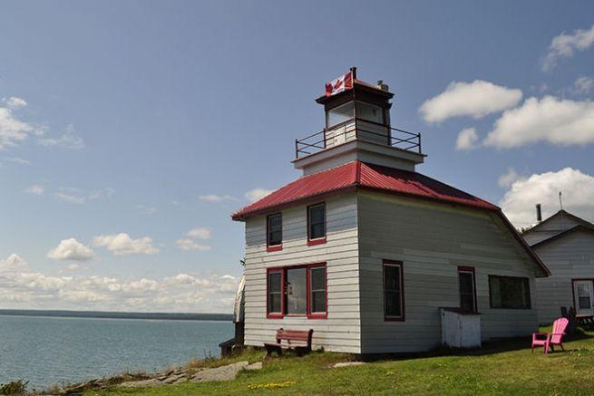 The McKay Island Lighthouse. #algomacountry
