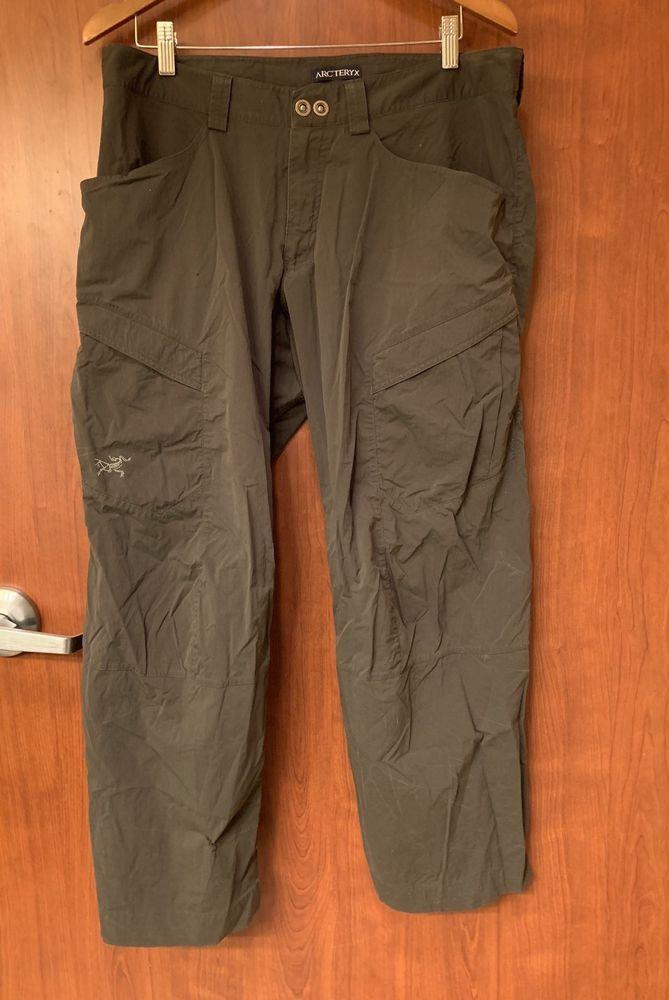 d9352eb6f75f1 ☀Arc'teryx☀Rampart Nylon Hiking Utility Cargo Pants Mens Sz 36 x 30 Green    eBay