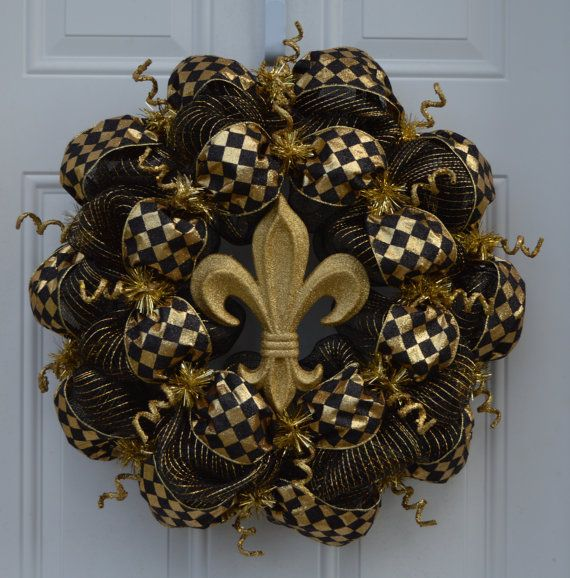 Saints Wreath New Orleans Saints Wreath by WelcomeHomeCreative, $70.00