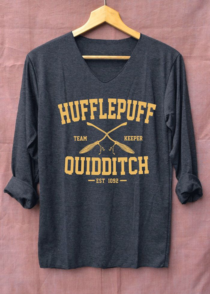 New Hufflepuff Quidditch Harry Potter Shirts Black Long Sleeve Unisex Adults Size S M L XL by topsfreeday on Etsy https://www.etsy.com/listing/480592317/new-hufflepuff-quidditch-harry-potter