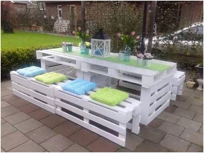 furniture of pallets. picnic table made from wooden pallets furniture of o