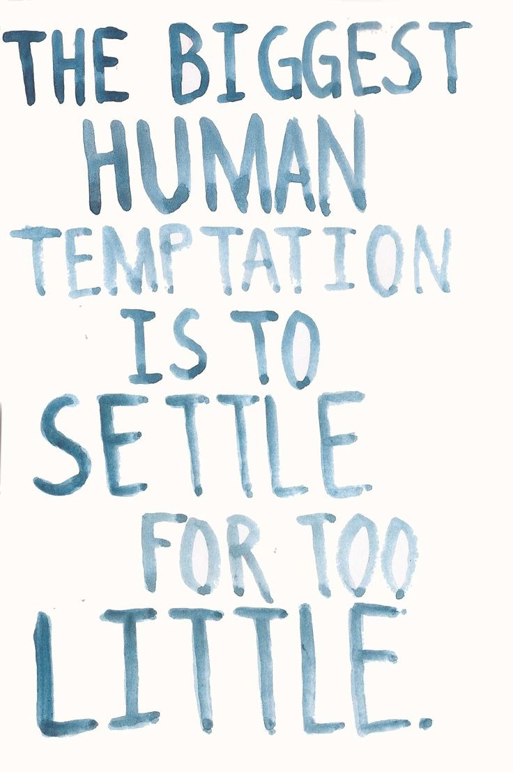 @Gaby Mijatovic we must not settle <3