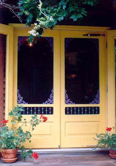 Best 25 vintage screen doors ideas on pinterest old for Double storm doors for french doors