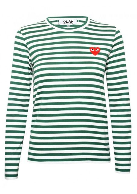 Green striped shirt, Comme Des Garcons, 940 kr.
