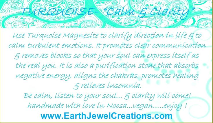 Turquoise crystal energy jewelry