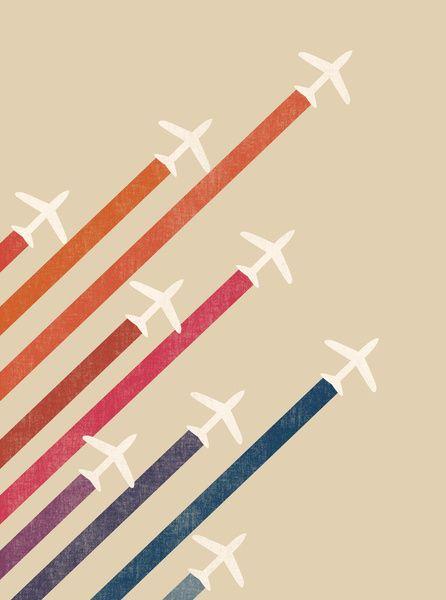 couleurs & formes géométriques & style vintage (aerial acrobat by budi satria kwan)