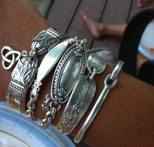 Silver spoon bracelets Brighton jewelry