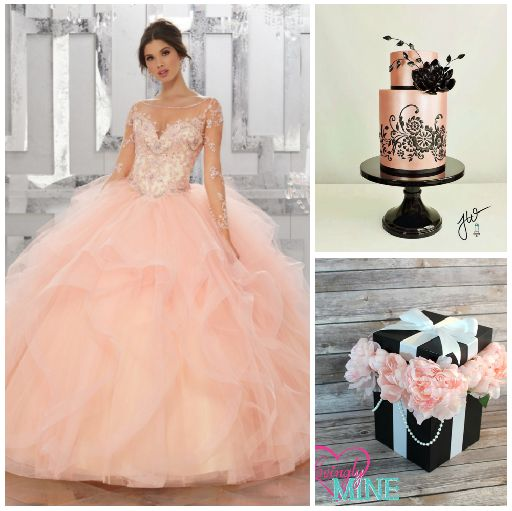 Forget silver and gold, a rose gold theme is the new go to for your Quinceanera!