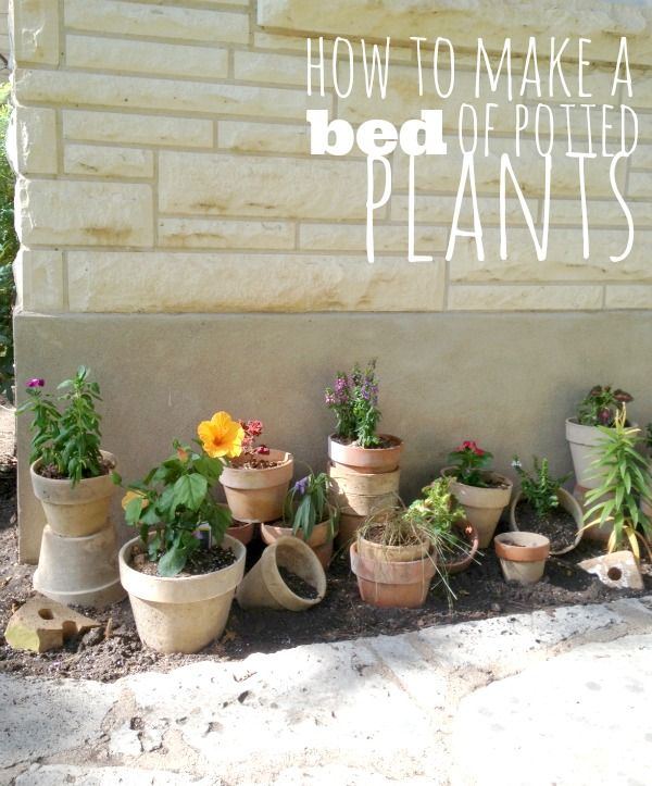 How to make a flower bed out of pots