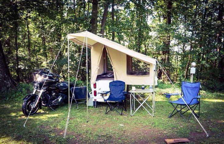 Mini Mate motorcycle camper by Kompact Kamp Trailers. www.kktrailers.com