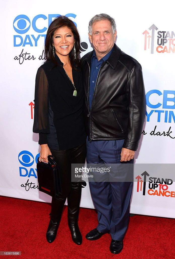 Television host Julie Chen and President and Chief Executive Officer of CBS Corporation Leslie Moonves attend 'CBS Daytime After Dark' at The Comedy Store on October 8, 2013 in West Hollywood, California.