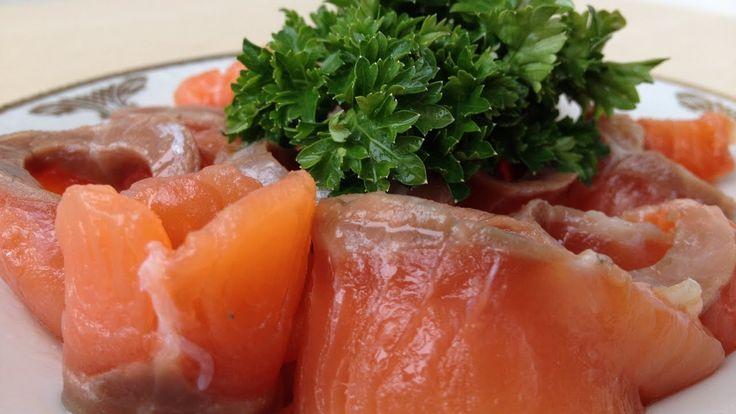 Как Солить Красную Рыбу (Очень Быстро и Просто) How to Salt Salmon, Engl...