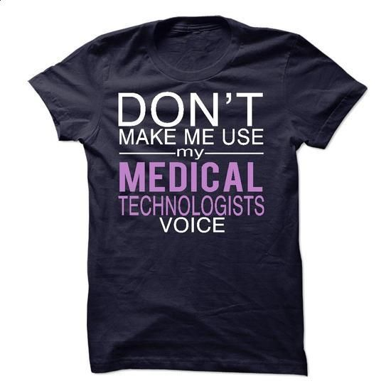 Medical Technologist voice - #plain black hoodie #funny shirt. MORE INFO =>…