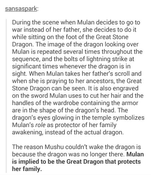 Tumblr Mulan Great stone dragon