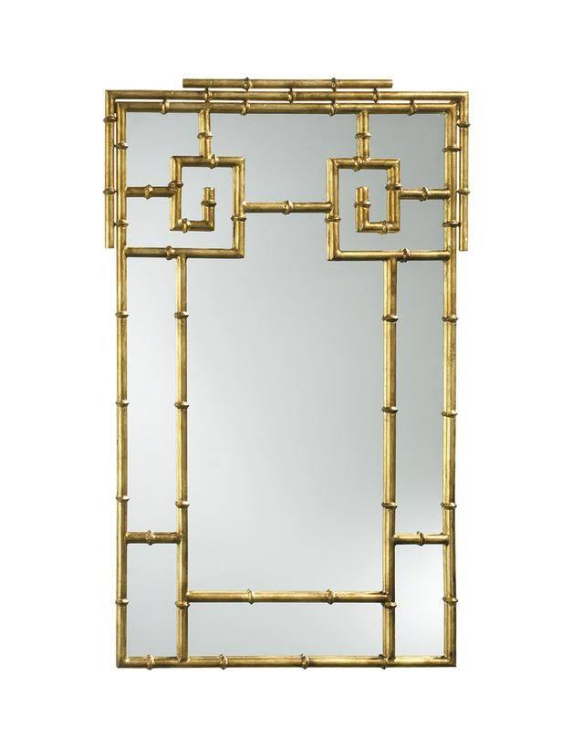 A gold-painted iron mirror...yes please! #hgtvmagazine http://www.hgtv.com/decorating-basics/the-highlow-shopping-guide/pictures/page-6.html?soc=pinterest: Dining Rooms, Mirror Mirror, Joss And Maine, Bamboo Mirror, Wall Mirror, Faux Bamboo, Mirrormirror, Chic Design, Hollywood Regency
