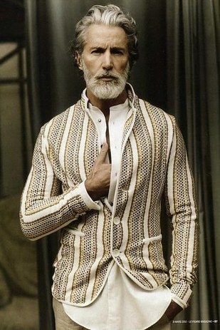 Aiden Shaw, Model   21 Disgustingly Hot Silver Foxes That'll Make You Fall In Love With Gray Hair