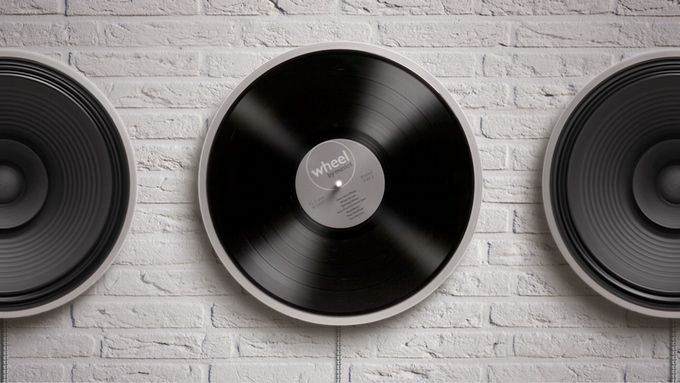 Wheel – Minimalistic Record Player Spinning On Your Wall