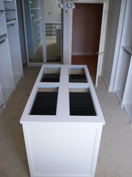 Closet Island ~ This Island Has Jewelry Drawers At The Top And Glass So You  Can