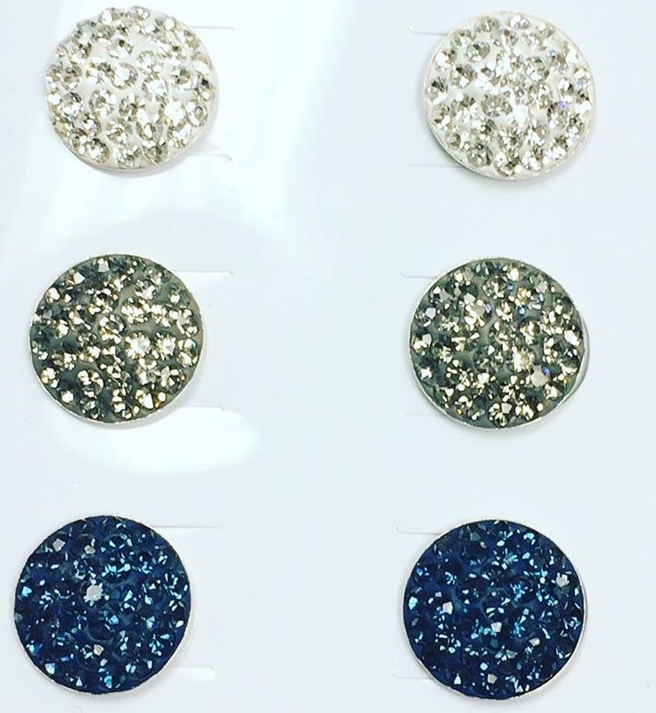We are loving these Preciosa Crystal Half Moon Silver studs! Available soon at www.jewels4ever.ca