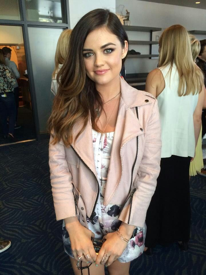 Aria Montgomery - Lucy Hale! Love her jacket and hair!